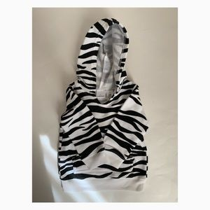 Jumping Beans Zebra Print Fleece Hoodie Girls 12M
